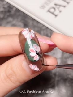 20 Best Nail Design Ideas - Flower Nail Art : Today we have collected 20 super beautiful nail design ideas for you, these nail art is definitely the trend in 2019 Nail Art Designs Videos, Nail Design Video, Nail Art Videos, Cool Nail Designs, Nail Art Hacks, Gel Nail Art, How To Nail Art, 3d Acrylic Nails, Rose Nail Art