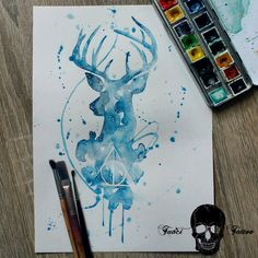 I like the head of this one but I'd prefer the stag to be charging towards the dementor
