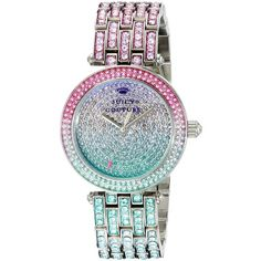 Juicy Couture Ladies Luxe Multi Colour Crystal 1901246 Watch for sale online Juicy Couture Watch, Juicy Couture Jewelry, Couture Accessories, Fancy Watches, Trendy Watches, Luxury Watches, Women's Dress Watches, Quartz Jewelry, I Love Jewelry