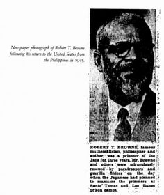"""Robert Tecumtha Browne (b. 1882) was a mathematician, theosophical leader, and a POW during WWII. He devoted many hours to the Methodist Church, the YMCA, the Republican Party, the Equity Congress, and the Negro Civic League. Through higher mathematics he acquired a deep appreciation for the ethereal. He wrote an unpublished manuscript titled """"Hyperspace and Evolution of New Psychic Faculties."""" He worked with Carter G. Woodson to revise the constitution of the American Negro Academy."""