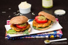 Vegan and gluten-free, these Sun-dried Tomato & Basil White Bean Burgers can be enjoyed by all.