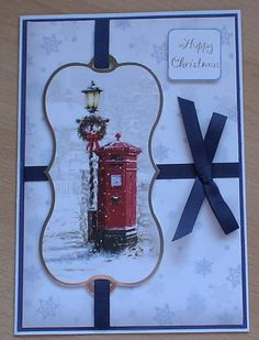 #Hunkydory #createandcraft This is a simple but very stylish card, The topper and background card are from the Hunkydory 4 day deal on create and craft. I have used ribbon from my crafty stash to decorate.
