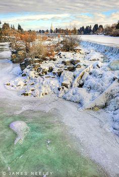 Ice Fall by James Neeley, via Flickr.  1/21/11, Idaho Falls, Idaho
