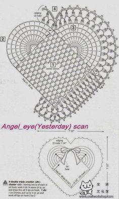 CROCHE COM RECEITA: Muitos corações em crochê