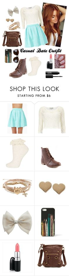 """Casual Date Outfit"" by rebecca-elizabethhh ❤ liked on Polyvore featuring Dorothy Perkins, Topshop, Aéropostale, Orelia, FOSSIL, NARS Cosmetics and Charlotte Russe"