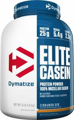 Dymatize Elite Casein Cookies and Cream 4 Lbs. Cookies and Cream - Slow Release Casein to Feed Muscles Overnight and Recover from Intense Training* High Protein Drinks, 100 Whey Protein, Whey Protein Isolate, Protein Foods, Protein Recipes, Protein Cake, Protein Cookies, Smoothie Recipes, Smoothies