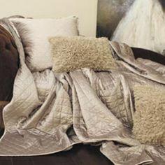 Lili Alessandra Chloe Diamond Quilted Velvet Silver Coverlet or Set LALQ190S #laylagrace #suryarugs