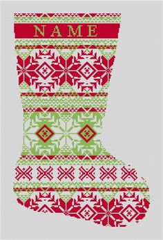 Needlepoint christmas stocking kits for beginner and experienced fair isle needlepoint christmas stocking kit needlepoint christmas stockings needlepaint cute stocking solutioingenieria Images