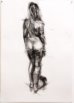 Lucy II by Damian Fennell, 2009. Charcoal on heavy cartridge, A1. 15 mins.