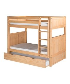 Loving this Natural Panel Twin Bunk Bed & Trundle on #zulily! #zulilyfinds