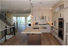 Dream Kitchen in this Million Dollar Home For Sale at 460 Beachfront Trail, Santa Rosa Beach, FL 32459 Million Dollar Homes, Santa Rosa Beach, Commercial Real Estate, Luxury Real Estate, Layout, Kitchen, Trail, Construction, Home Decor