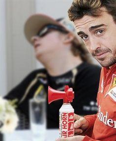 A nodding Kimi Raikkönen with fellow F1 Pilot, Fernando Alonso, considering the obvious?