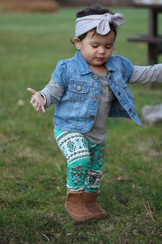 Toddler Turquoise Leggings- Tribal Print! Im so excited for my order!!!