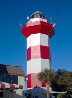 8) Hilton Head Lighthouse of Hilton Head, SC: The most visited lighthouse in South Carolina.