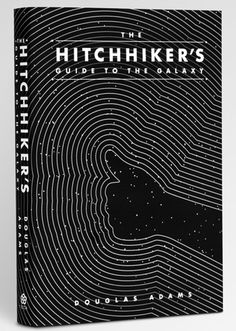 The Hitchhiker's Guide to the Galaxy.  Redesigned book cover by Clay Giffin.