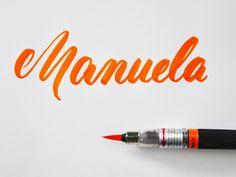 Letter Lovers robert_lettering: Handlettering Manuela