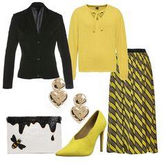 Il giallo che illumina  outfit donna Trendy per tutti i giorni  a4b87fcbf81a