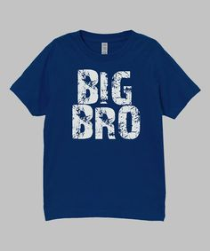 Take a look at this Navy 'Big Bro' Tee - Infant, Toddler & Boys on zulily today!