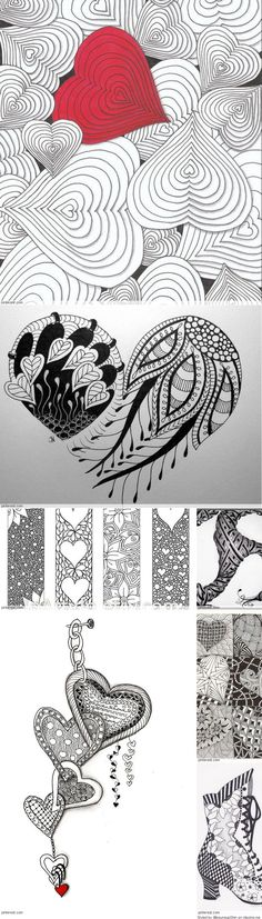 Zentangle Valentine's Day Ideas