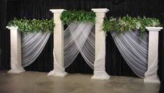 Grecian Columns and Draping for Stage Decor