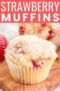 These Strawberry Coffee Cake Muffins are made with sweet fresh berries and buttermilk and topped with a delicious sugar and butter crumble! They're super easy to make and readers have called them the best muffin recipe they've ever had! Strawberry Muffin Recipes, Strawberry Coffee Cakes, Strawberry Breakfast, Strawberry Muffins, Strawberry Salsa, Blueberry Breakfast, Blueberry Recipes, Cupcake Recipes, Baking Recipes