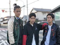 Fumiya Sankai with his brothers Shunya (right) and Yuya (left ) Yaki Soba, Japanese Boy, Male Beauty, Kai, Brother, Handsome, Boys, People, Jackets