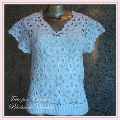 * Pérolas do Crochet: Blusa de croche