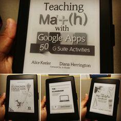 """Excelente trabajo el de #AliceKeeler y #DianaHerrington en """"Teaching Math with Google Apps"""". Siguiente libro """"The Hyperdocs Handbook"""" editado por #EdTechTeam. Nada como tener algo de tiempo para leer... #Libros #Tecnopedagogía #Google #GoogleApps #Matemáticas #Hiperdocumentos"""