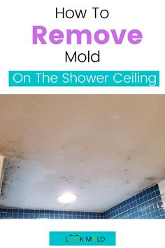 Mold can happen on the shower ceiling due to poor ventilation. But there is also a possibility of a leak present. Learn when the ceiling needs to be removed and when/how it can be cleaned #showermold #mold #bathroomcleaning