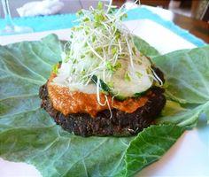 Almond Pulp Mushroom Veggie Burger