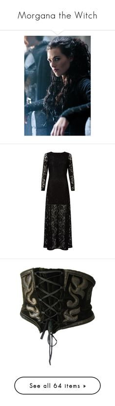 """""""Morgana the Witch"""" by kai-vienna ❤ liked on Polyvore featuring Merlin, merlin, katie mcgrath, models, people, celebrities, dresses, gowns, 13. dresses. and high-neck maxi dresses"""