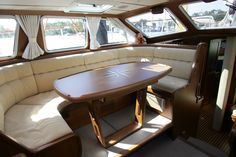 Interior pictures of the Nauticat 42. The pilot house makes this boat very bright and comfortable.