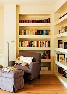 salones con librería · ElMueble.com · Salones