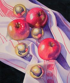 Janice Sayles - Apple Celebration. Watercolor