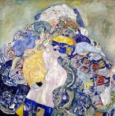 Gustav Klimt, 'Baby(Cradle)' (1917-18) || Austrian Symbolist, Art Nouveau, Vienna Secessionist(Prominent) (1862-1918)