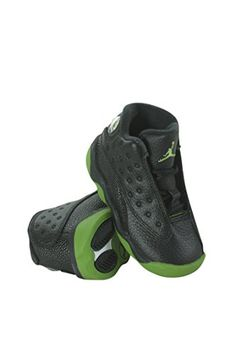 e9c200a5ae33 414581042 Kids Toddler Jordan 13 Retro BT Jordan BlackAltitude GreenWhite  -- Read more at the image link. (This is an affiliate link) 0