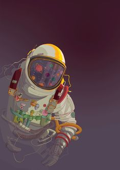 German-based Digital Artist / Web Developer Philipp Rietz aka Badbugs_Art works as Freelance creative and do magically illustration and Design experiments. Astronaut Illustration, Space Illustration, Wallpapers Galaxy, Desktop Backgrounds, Astronaut Wallpaper, Astronauts In Space, Doodle, Concept Art, Street Art
