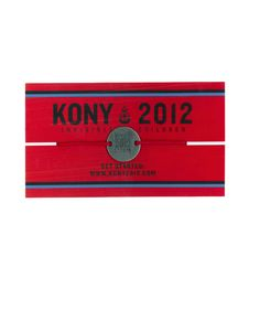 The ultimate accessory - show your commitment to the KONY 2012 campaign by wearing this tw-sided bracelet adorned with STOP AT NOTHING on one side and KONY 2012 on the other. With red wax thread that can endure basically anything, it's the best excuse to never take it off.