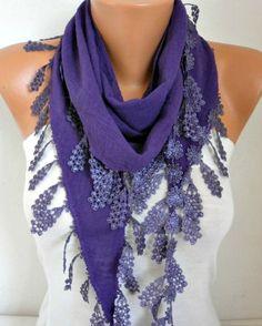 Purple Scarf Shawl Scarf