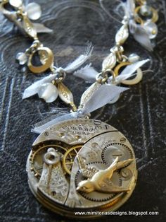 My jewelry version of steampunk style.