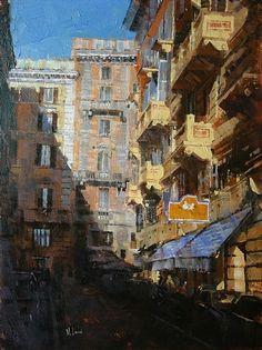 "Roman Balconies by Mark Lague Oil ~ 24"" x 18"""