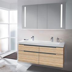 V&b subway xxl alm impresso 130 cm servantskap skuffer - MegaFlis. Villeroy Boch Subway, Double Vanity, Bathroom, House, Washroom, Modern, Home, Full Bath, Bath