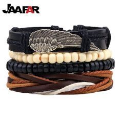 Punk Braided Adjustable Leather Bracelets Men For Women Cuff Vintage Jewelry //Price: $13.38 & FREE Shipping //     #hashtag1
