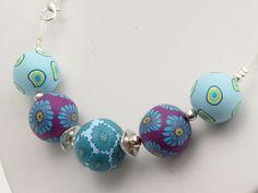 necklace Wellness Polymer Clay, fimo,  holiday, Wechsel-Kette Organza  Fi... von filigran-Design   auf DaWanda.com