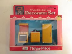 Vtg Fisher Price Hong Kong Doll House Items KITCHEN APPLIANCES MIB #FisherPrice