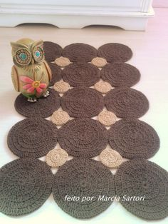 Crochet Crafts, Crochet Doilies, Crochet Shawl Free, Crochet Rug Patterns, T Shirt Yarn, Projects To Try, Kids Rugs, Knitting, Inspiration