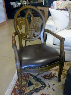 Elegant Fleur-de-lis chair, we have two in our store!
