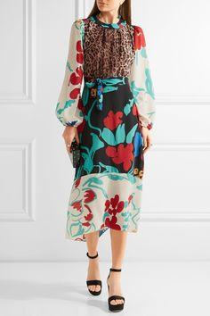 RIXO London | Penelope printed silk midi dress | NET-A-PORTER.COM
