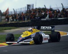 "Nigel Mansell , Williams FW10 - Honda RA164E 1.5 V6 t,1985 ... aka ""red 5"""