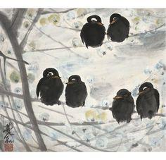林风眠画鸟